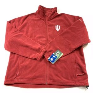 Columbia Mens Indiana Hoosiers Fleece Jacket XL